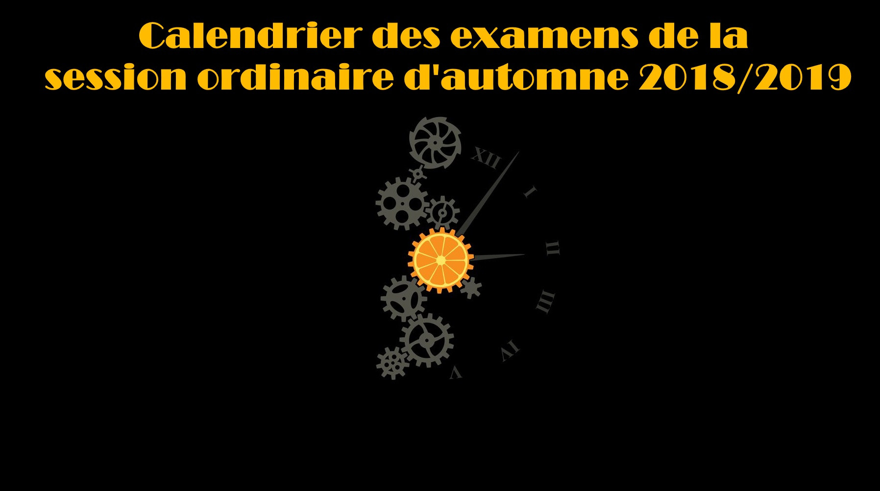 Calendrier Des Examens Sciences Po.Faculte Des Sciences Oujda