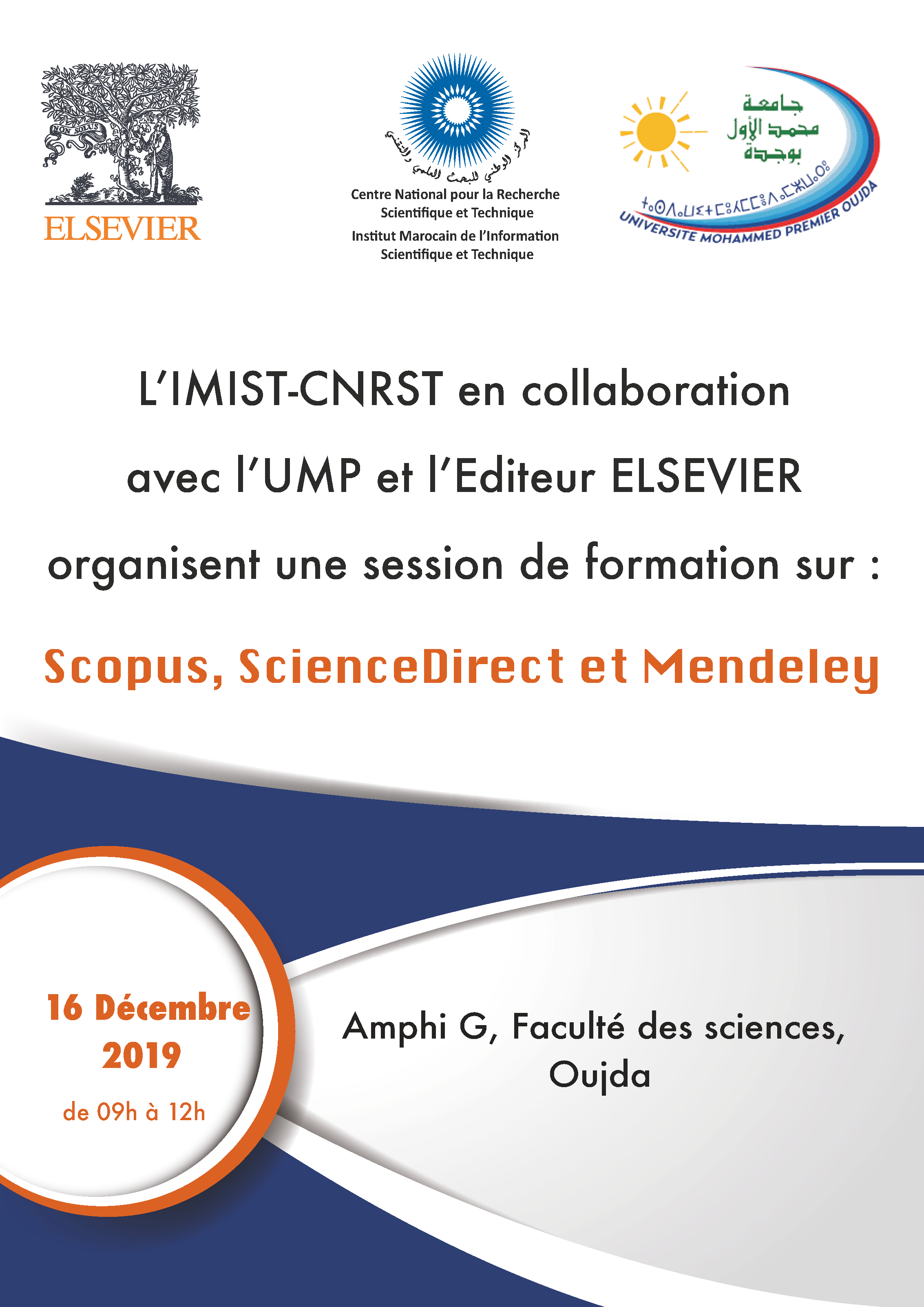 Session de Formation sur : Scopus, ScienceDirect et Mendeley